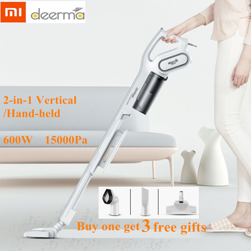 Xiaomi Deerma DX700 Handheld Vacuum Cleaner Household Silent Vacuum Cleaner 15000Pa Strong Suction Dust Collector Home Aspirator-in Vacuum Cleaners from Home Appliances    1