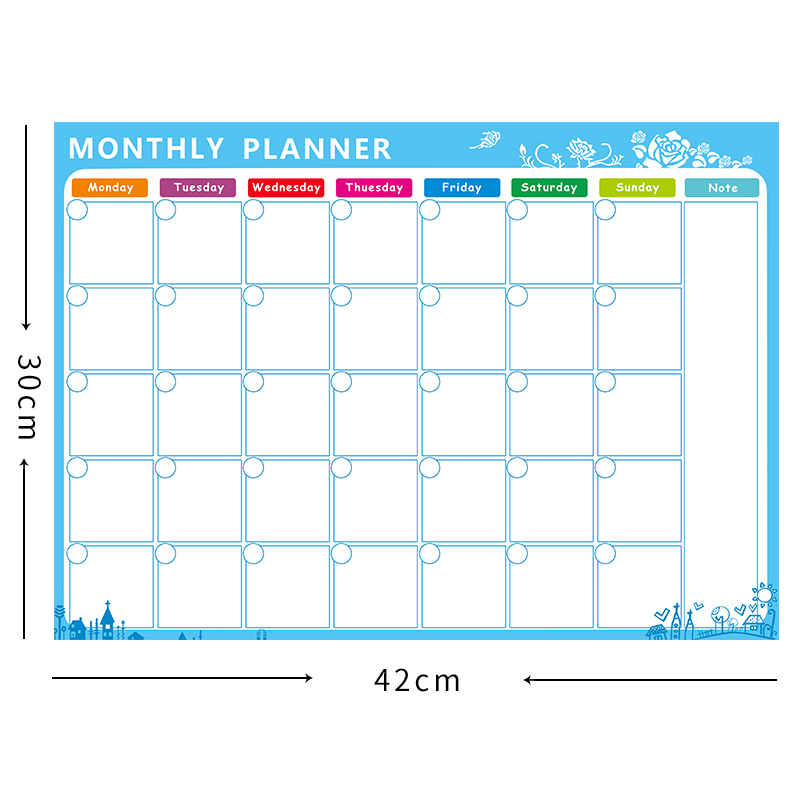 Magnetic Board A3 Monthly Calendar,Dry Erase Magnetic Whiteboard Drawing  For Kitchen Fridge Refrigerator Planer/ 42*29.7CM In Whiteboard From Office  ...