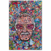 Stan lee Marvel Godfather Comics Poster Anime hero poster wall art Canvas Printings decor home Unframed