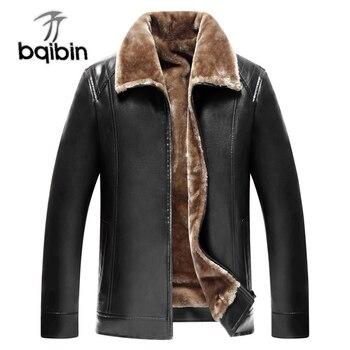 Hiver hommes chaud polaire fourrure veste décontracté automne épais chaud en cuir PU coupe-vent Parka manteau Long Outwear pardessus marque classique