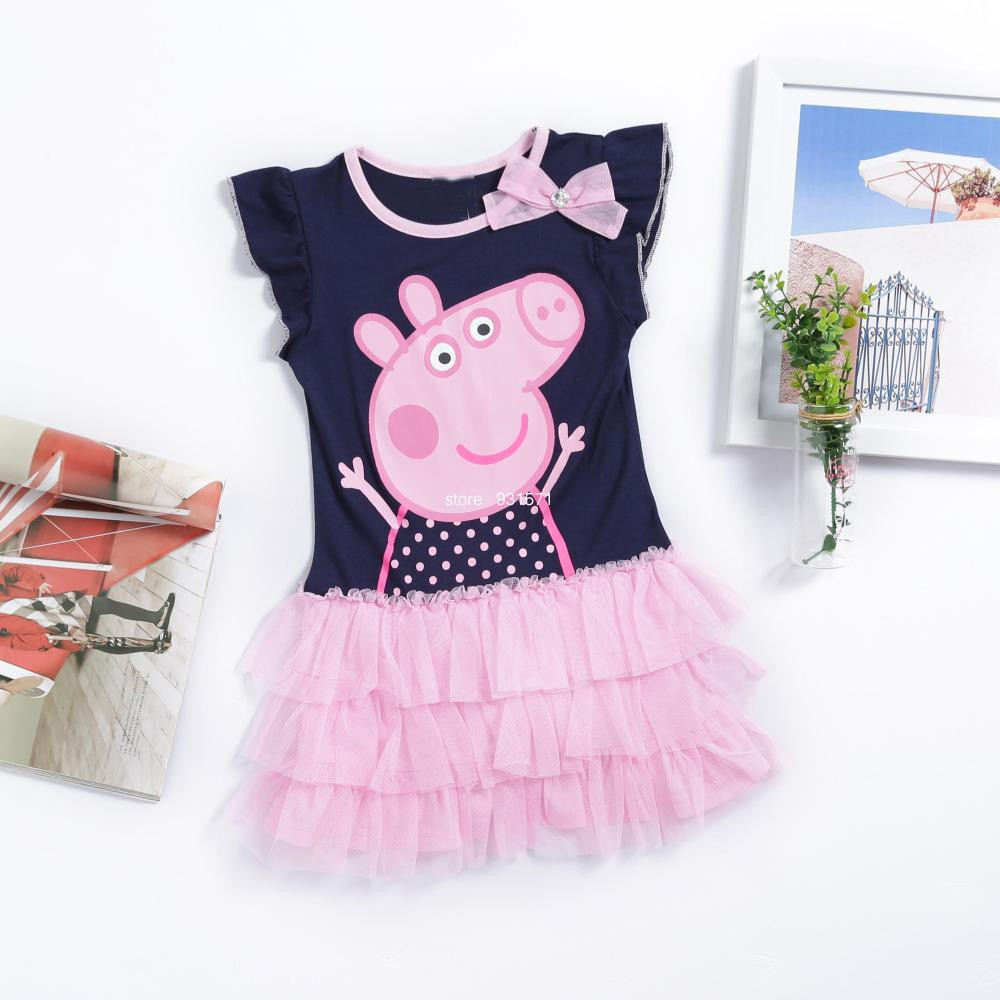 pra peppa cerdo vestido de lujo online al por mayor de