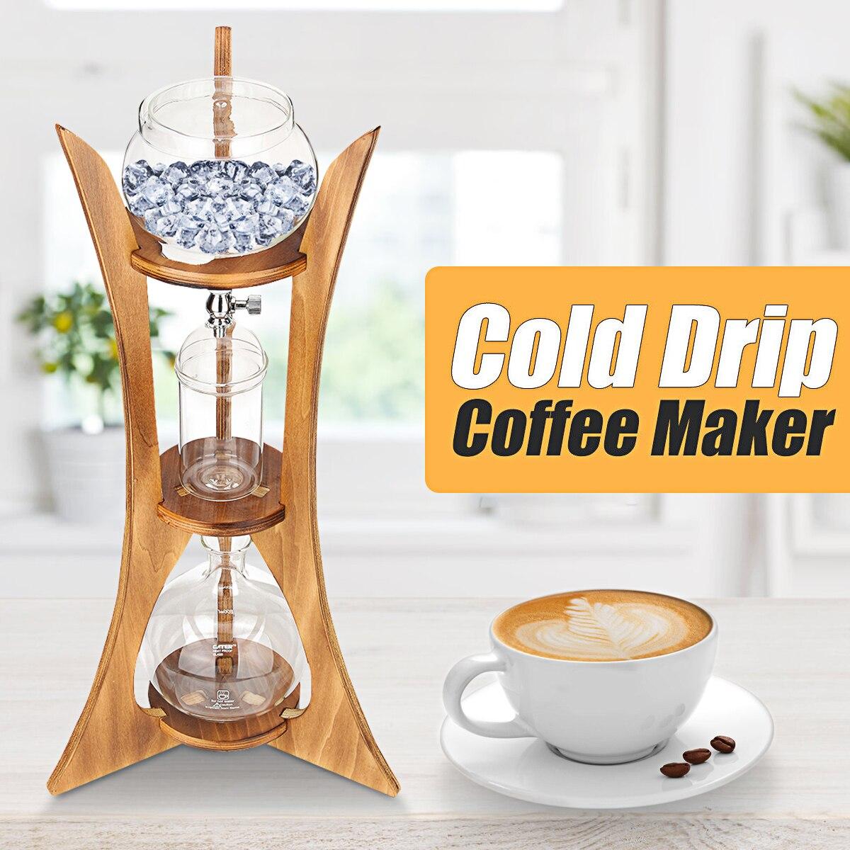 Pratique Verre Goutte Froide Café Pot Maker D'eau Réutilisable Goutte À Goutte Cafetière Verre Goutteur Pot Glace Café Infusion à Froid Filtre outils