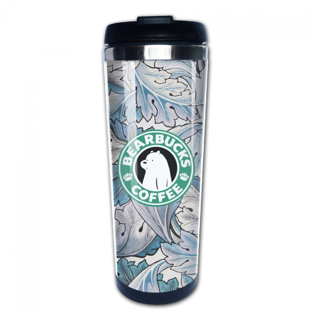 We Bare Bears Coffee Mug Travel Children Tazas Stainless Steel Tumbler Caneca Tea Cups Cafetera Classic Personalized Custom