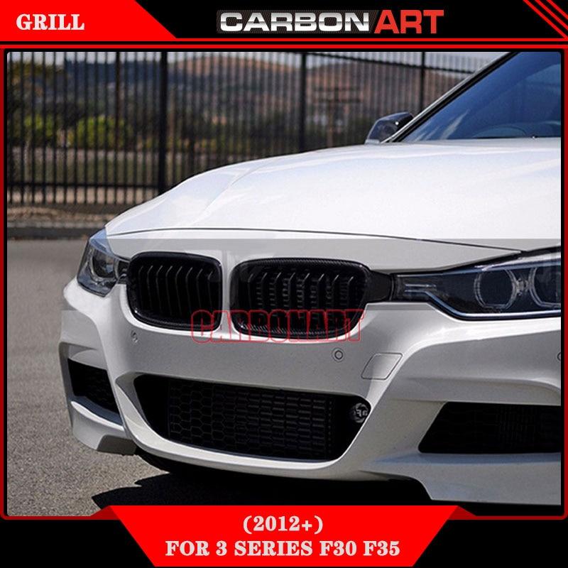 1 para Vorne Niere Haube Grille Grills tür Gloss Black Frontschürze grill für BMW 3-Serie F30 F31 2012-2016