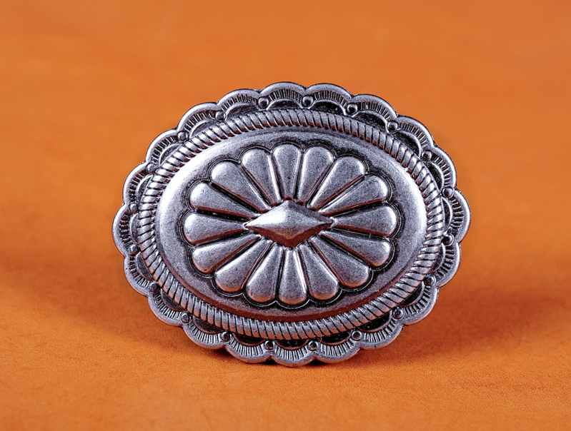 6X Quality Heavy Duty Vintage Silver American Tribal Belt Leather Craft Conchos
