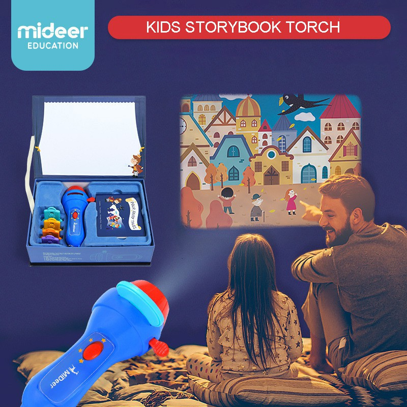 MiDeer Kids Storybook Projector Torch Flashlight Light-up 3D Educational