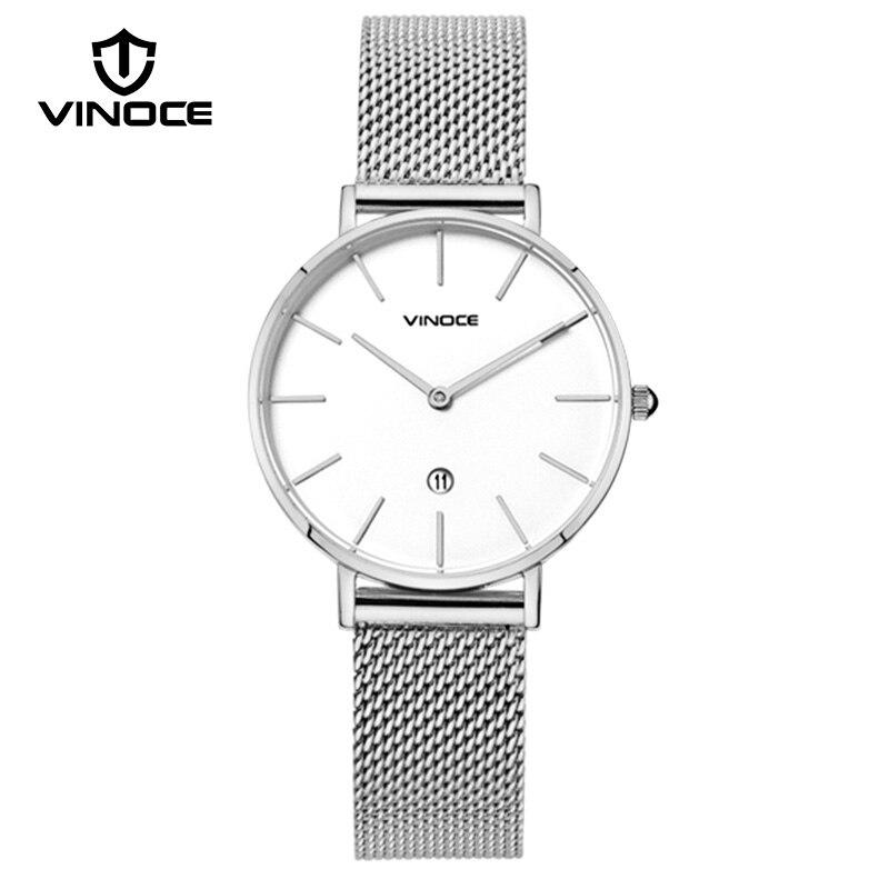 VINOCE Women Watches 2018 Top Brand Luxury Stainless Steel Quartz Watch Women's Clock Female Wrist Watch Reloj Mujer #V9646 стоимость