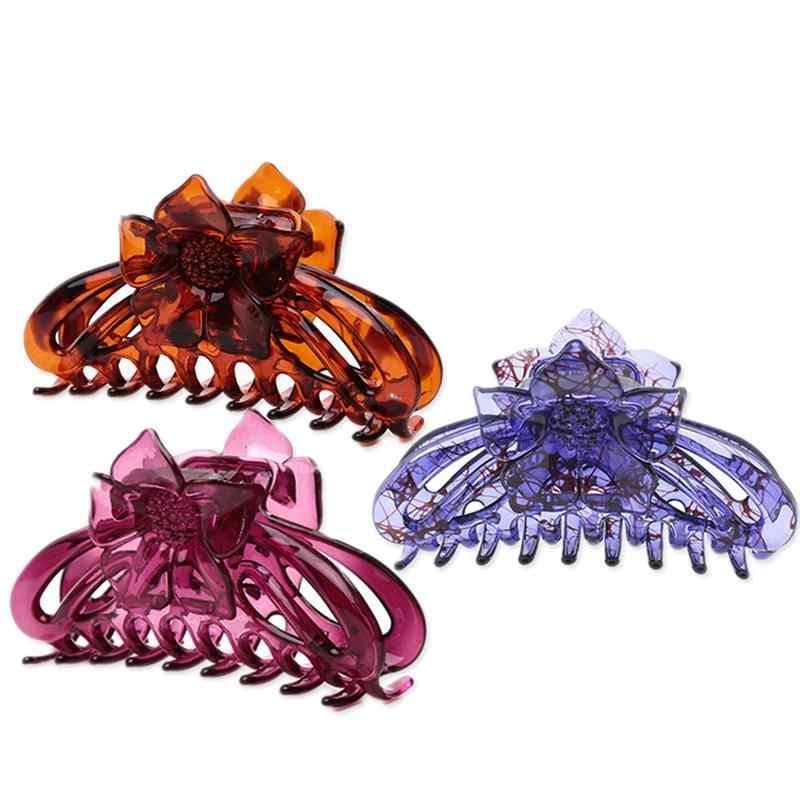 3 шт. женские Когти для волос цветок большая Классическая шпилька лапа коготь Заколки для волос аксессуары для работы повседневная Чистка лица