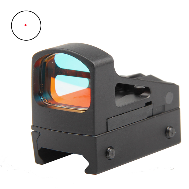Tactical RMS Reflex Mini Red Dot Sight Scope With Ventilated Mounting and Spacers For Airsoft Glock