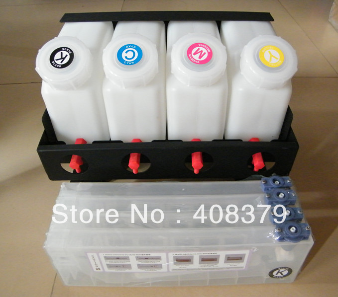 4 color bulk ink system for Mutoh RJ900 VJ1604 1204 1304 2606 1618 printer