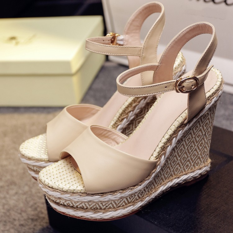 2017 Superior Quality Summer genuine leather Bohemian Wedges Women sandals for Lady shoes high platform open toe flip flops mcckle fashion superior quality comfortable bohemian wedges women sandals for lady shoes high platform open toe flip flops plus