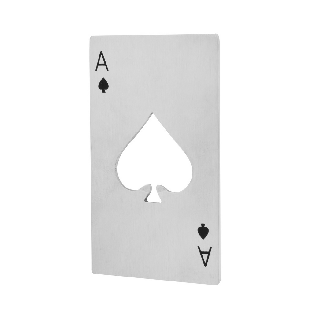 2018 New Stylish Hot Sale 1pc Poker Playing Card Ace of Spades Bar Tool Soda Beer Bottle Cap Opener Gift