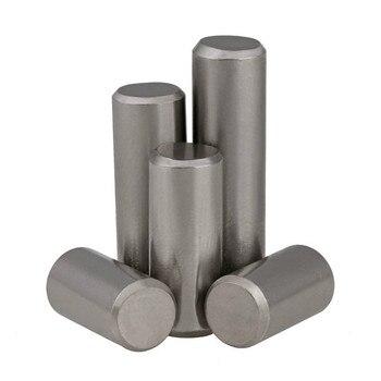 2 uds M10 M12 GB119 304 Pin cilíndrico de acero inoxidable Pin de fijación Pin sólido