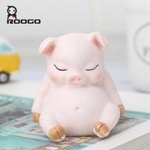 ROOGO figurines craft minatures home decoration  Resin Cartoon animal sleepy Desktop Child Room Ornaments For Children Gifts