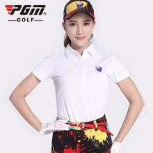 The new PGM ladies golf apparel Golf short sleeved T-shirt POLO shirt cotton T-shirt