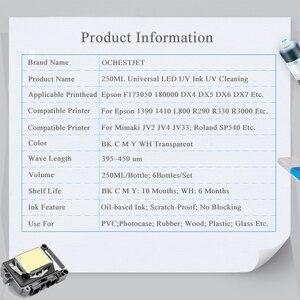 Image 5 - 6ขวดLED UVหมึก + UVทำความสะอาดสำหรับEpson L800 L805 R290 L1800 1390 1400 1500W DX5 DX7สำหรับUVเครื่องพิมพ์หมึกหมึกสำหรับEpson