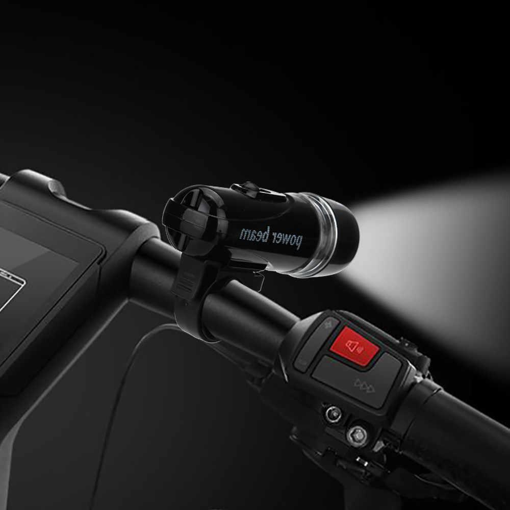 LED إضاءة دراجة هوائية مصباح يدوي مقاوم للماء إضاءة أمامية للدراجة USB قابلة للشحن في الهواء الطلق إضاءة أمامية للدراجة مقاوم للماء