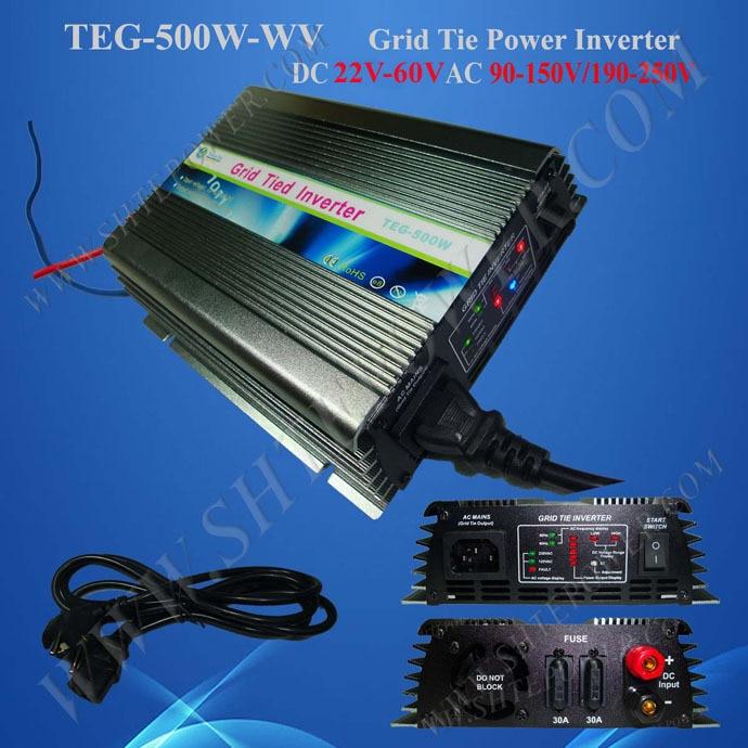 On Grid Solar Inverter 500w with DC 22v-60v input to AC 240v Output solar power on grid tie mini 300w inverter with mppt funciton dc 10 8 30v input to ac output no extra shipping fee