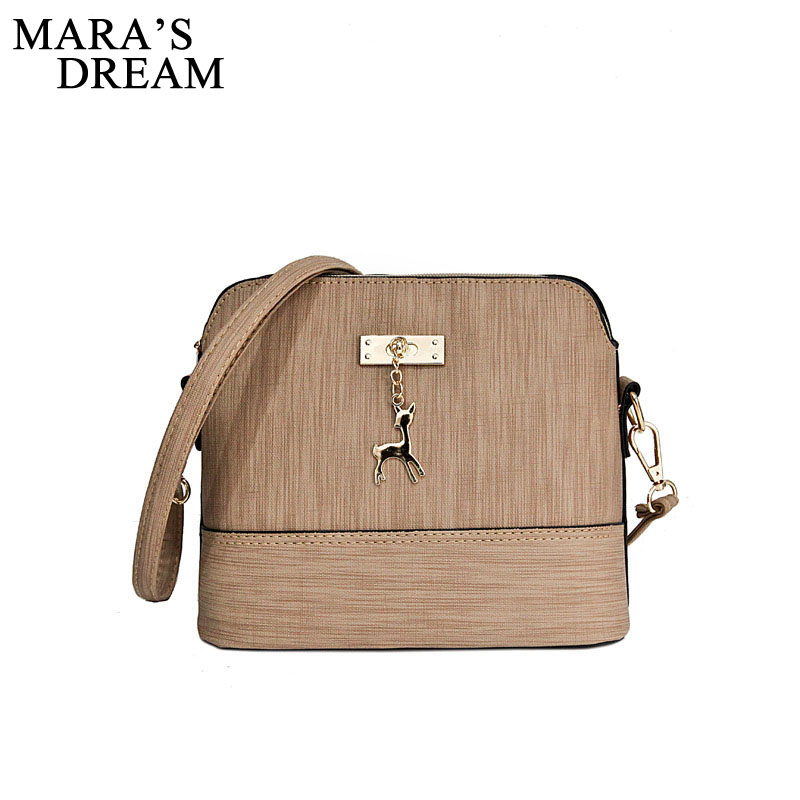 Mara's Dream Shell Women Messenger Bags High Quality Cross Body Bag PU Leather Mini Female Shoulder Bag Handbags Bolsas Feminina yesetn bag hot selling high quality unisex women men small vintage messenger bag brown female male cross body shoulder bags
