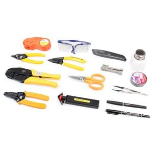 Image 3 - Fiber Tool Kit KEVLAR Scissor KC 1 IDEAL 45 162 Buffer tube stripper Polish Film fiber microscope Hot Oven Ftth Tool