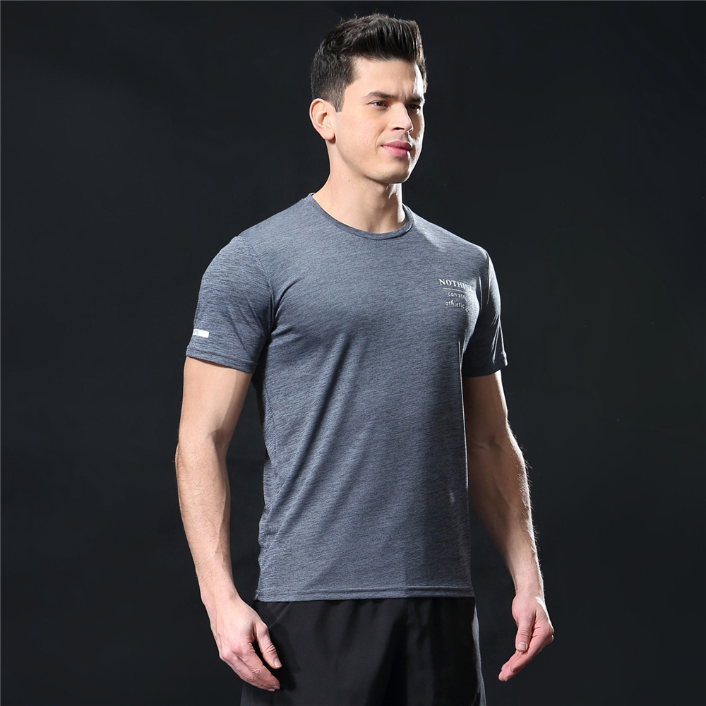 GANYANR Running T Shirt Men Basketball Tennis Sportswear Tee Sport Fitness Gym Jogging Tops Slim Fit quick dry Exercise Training 32