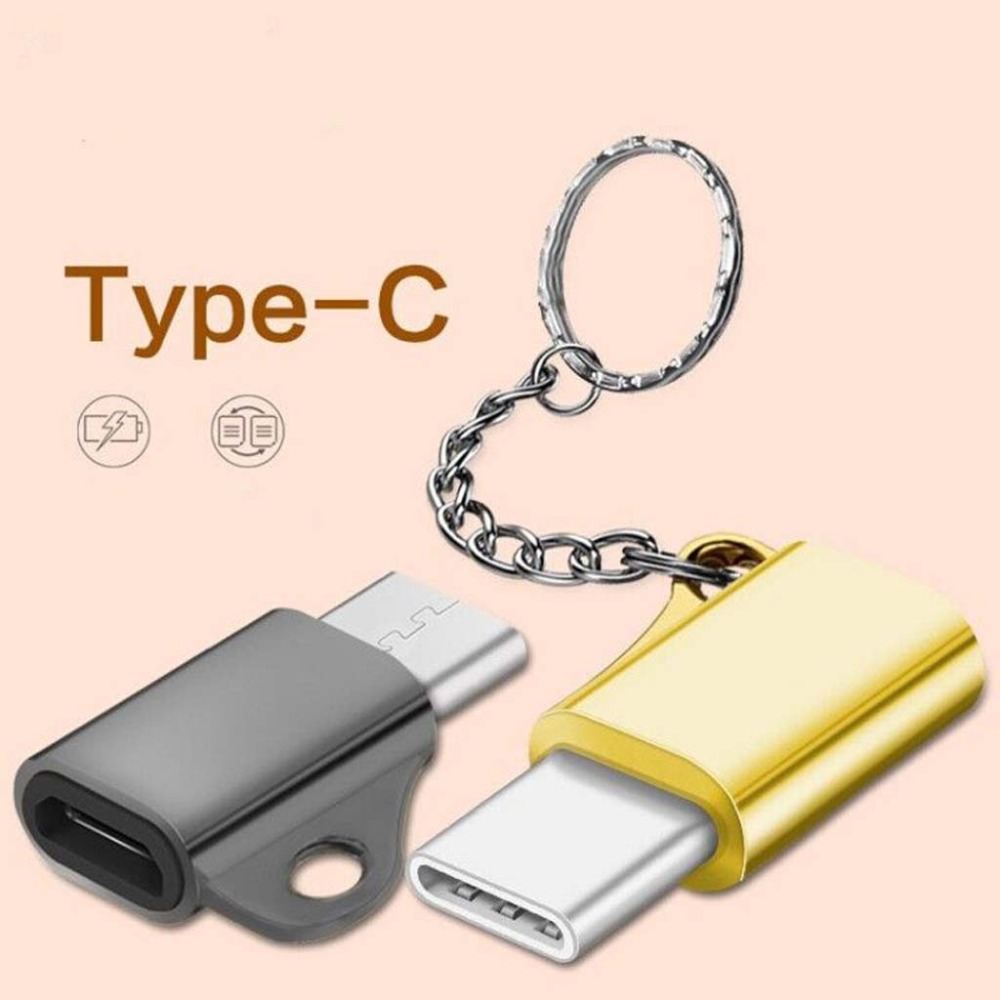 Computer & Office Mini Usb 3.1 Type C Male To Micro Usb Female Converter Adapter With Keychain For Samsung Huawei Lg Xiaomi Android Phone