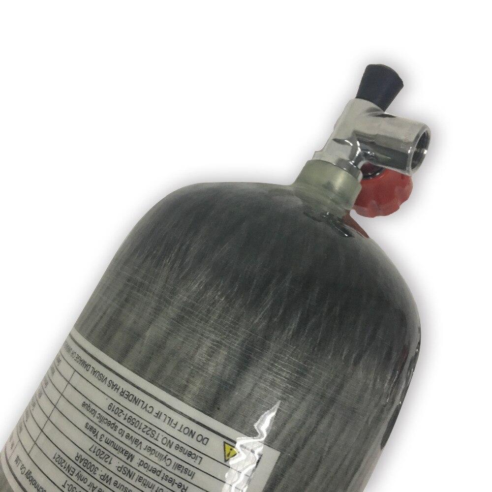 Image 5 - AC10911 оригинальный 9L 95Cf Дайвинг Воздушный бак оболочка из карбоволокна цилиндр Пейнтбол Бак 4500Psi высокого давления с клапаном-in Пейнтбольные аксессуары from Спорт и развлечения