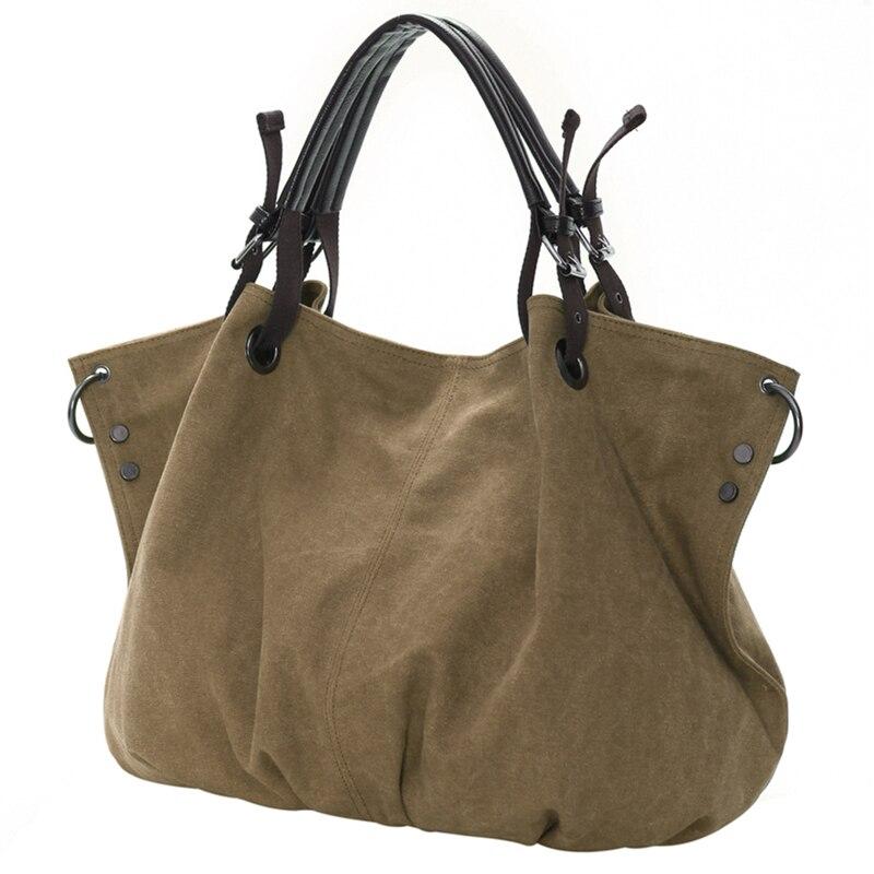 a2dbc856fd02 2018 Новый Для женщин сумки холст Курьерские сумки Винтаж плеча Crossbody  дорожная сумка большая Ёмкость личность контракт сумка