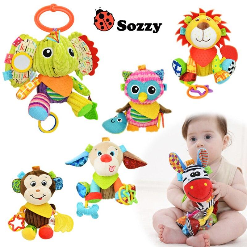 Peluş körpə oyuncaqları Çox funksiyalı Baby Rattle Bell Körpə - Körpələr üçün oyuncaqlar