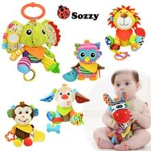 Plišane igračke za bebe Dizajni Višefunkcijska beba Rattle Bell Dječja beba Dječja kolica Stroller Vješanje Toy Autorizirana Autentična SOZZY