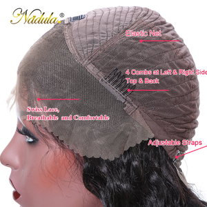 Image 5 - Nadula 머리 13*4/13*6 딥 웨이브 레이스 프런트 인간의 머리가 발 여성을위한 브라질 레미 헤어 스위스 레이스가 발 평균 크기