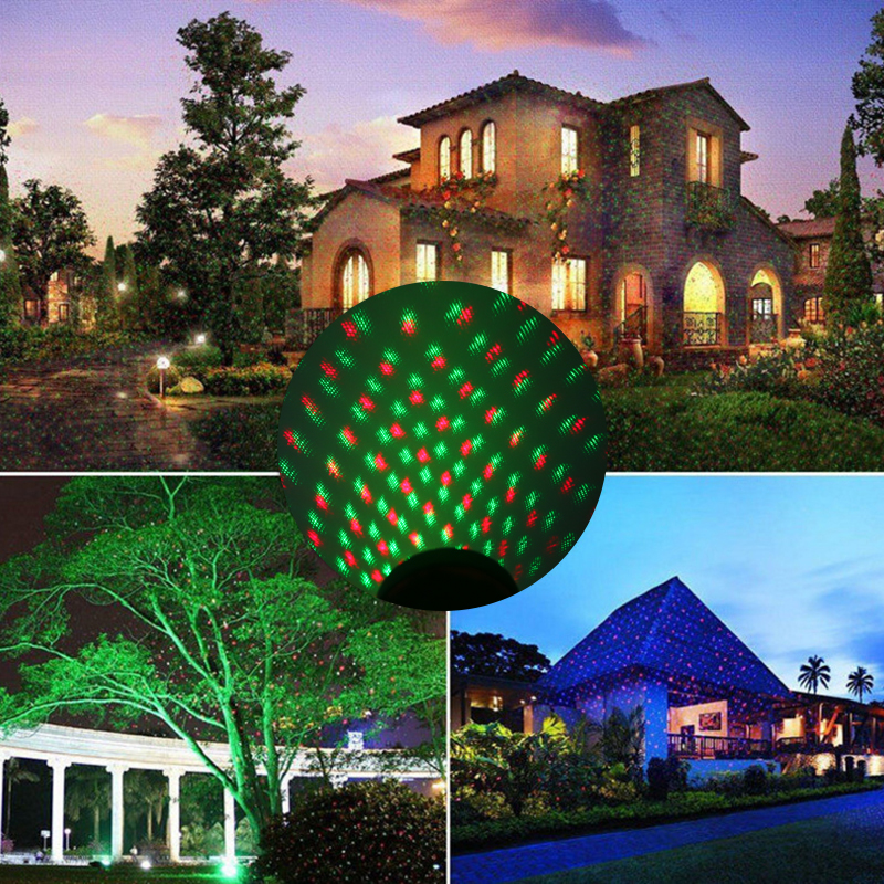 New Hot Outdoor Lawn Light Sky Star Laser Spotlight Light Shower Landscape Park Garden Light Christmas