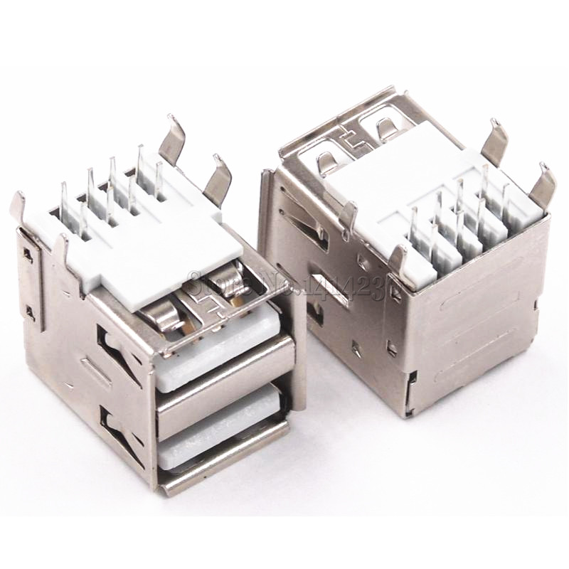 10Pcs Double USB Type a Female Solder Jacks...