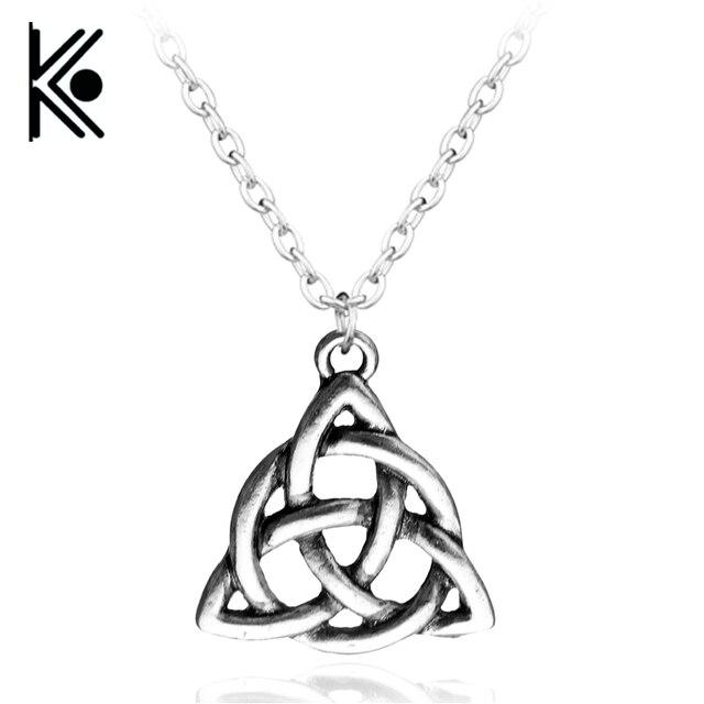 Viking Triquetra Trinity Knot Nordischen Halskette Irish Skandinavischen Zinn Anhänger männer Zinn Anhänger Halskette