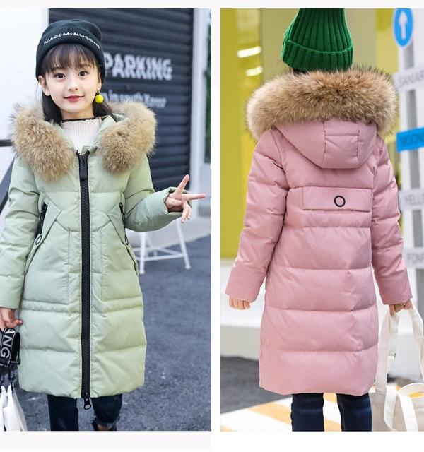 Doudoune longue fille de russie nouveau manteau épais d'hiver