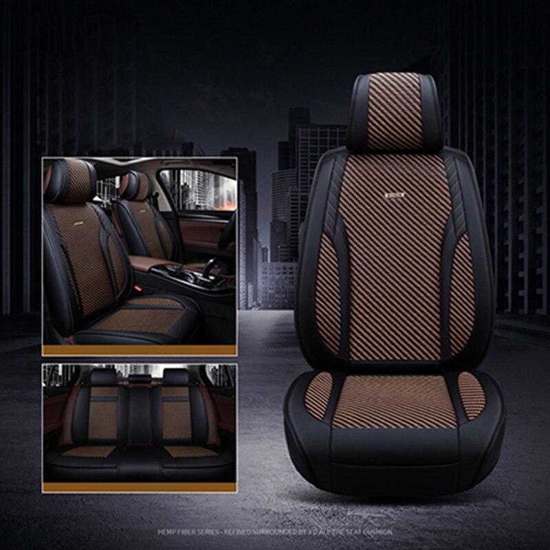 2018 Новый Ice Шелковый сиденья дышащий подушки сиденья Поддержка Лето 5 место Чехлы для мангала для Subaru XV Forester Outback tribeca