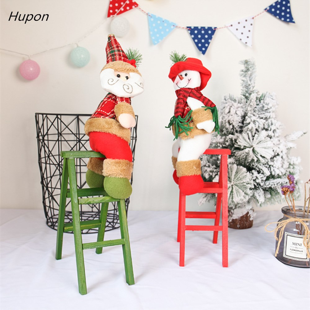 New Wooden Christmas Decorations Santa Claus Ladder for