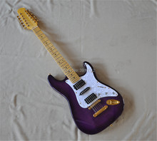 Free shipping custom High quality ST12 strings purple electric guitar  real photos high quality 6 string electric guitar ricken guitar 6 strings high quality forestwind oem logo free shipping