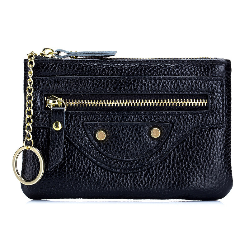 Genuine Leather Locomotive Purse For Coins Unisex Fashion Multifunction Coin Bag Ultra-thin Small Square Coin Purse Top Quality