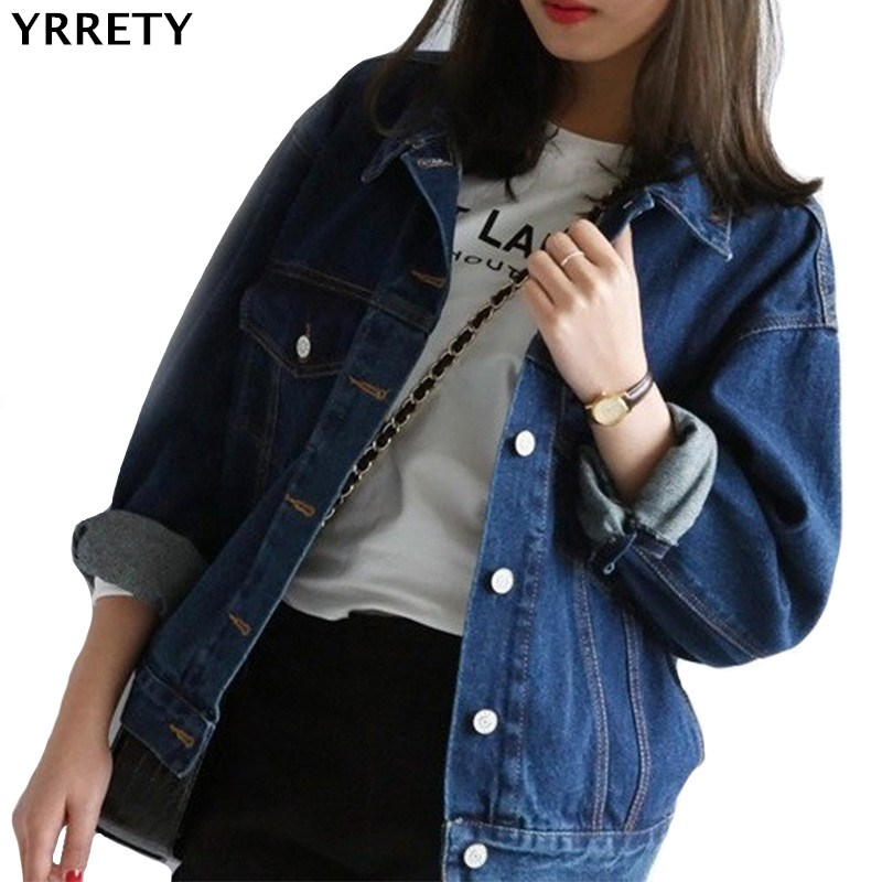 YRRETY Women   Basic   Coats 2018 Spring Summer Denim   Jacket   Femme Vintage Long Sleeve Jeans   Jacket   Bomber Casual Coat   Basic     Jackets