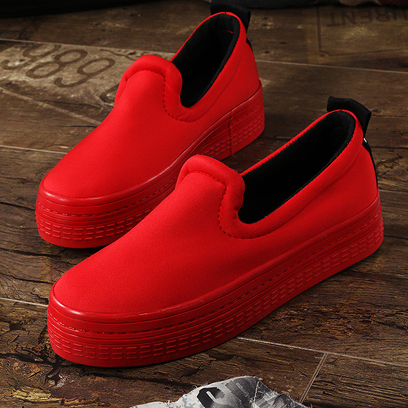 2016 New Spring Fall Denim Canvas Flat font b Women b font Loafers Shoes Platform A