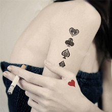 HC1036 Waterproof Fake Tattoo Decals Women Sexy Personalized Water Transfer Temporary Tattoo Sticker Colored Poker Flash Tattoo