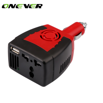 Onever Portable 50HZ 150W Car Power Converter (DC 12V to AC 220V)