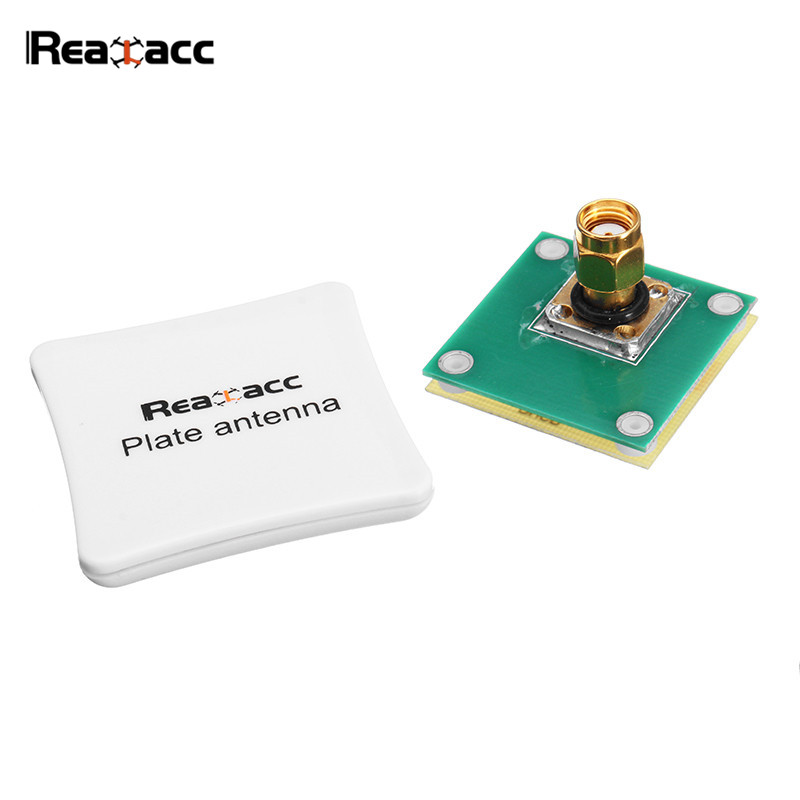 Realacc 5.8G 8dBi LHCP/RHCP Omni-directional FPV Panel Plated Flat Antenna SMA/RP-SMA For RC Goggles Transmitter Models FPV 2pcs original emax pagoda ii 2 5 8ghz 50mm 80mm rhcp lhcp fpv antenna sma plug connector