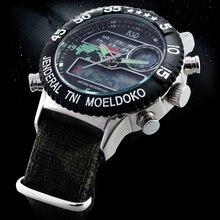 Esporte Militar Lona Relógio de Quartzo Relógio Masculino relógios de Pulso Relogio masculino 2016 KSD Dive LED Relógio Relógios Homens Marca De Luxo