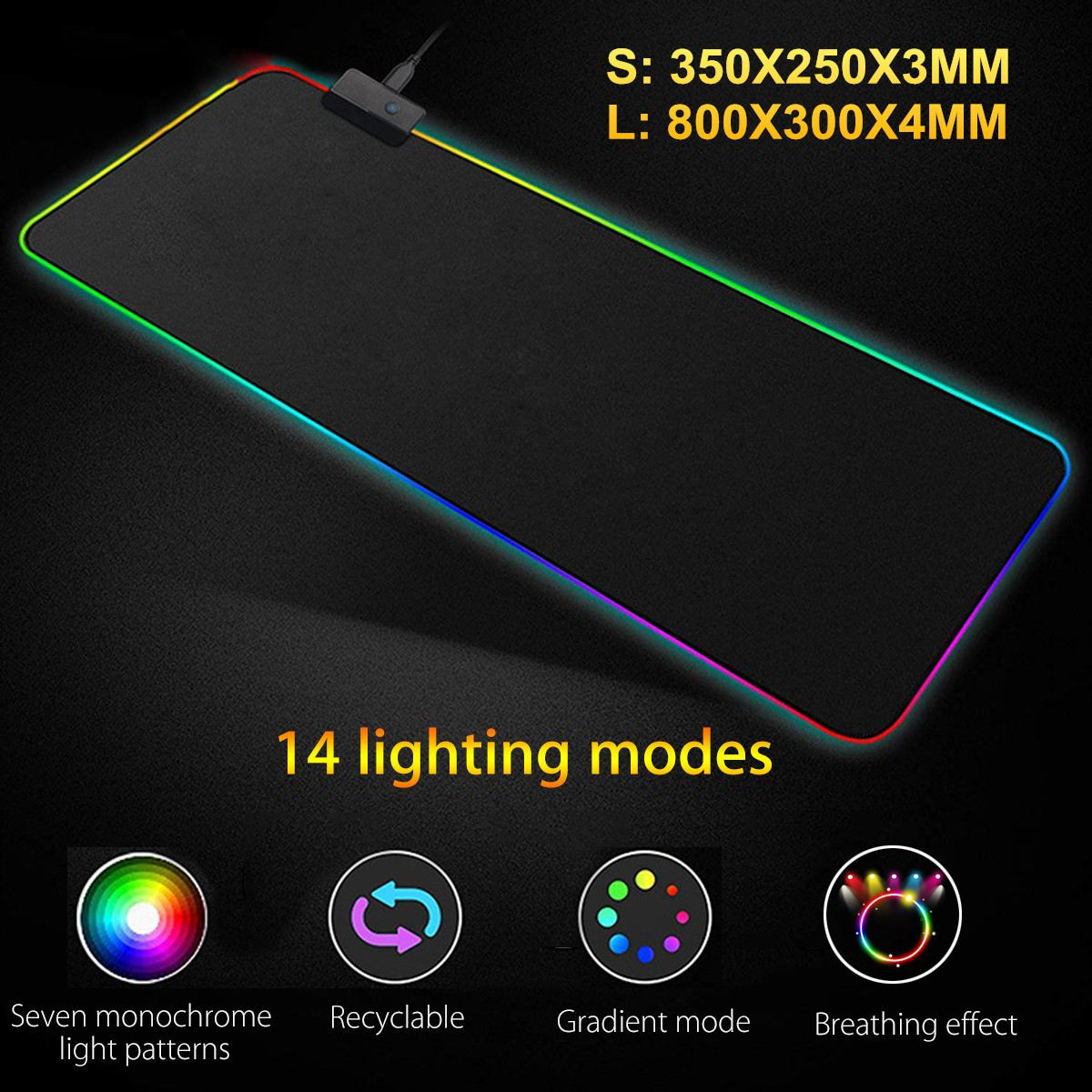 Wired /Wireless Gaming Keyboard And Mouse Set Rainbow Backlit USB Keyboard RGB LED Mouse Pad Combo Set For PC Gamer Laptop
