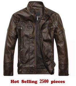 Image 5 - 新ブランドオートバイの革のジャケット男性のレザージャケット jaqueta デ couro masculina メンズ革コート