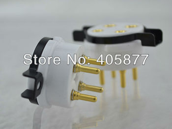 10PIECES Hi-End New  Cermatic 4Pin tube socket