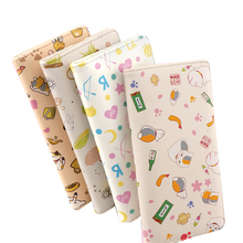E-Mell Love Live! Totoro Neko Atsume Natsumes Book of Friends Korean PU Full-Color Printing Long Wallet 2012 full color 180 pages printing catalog of chef essentials