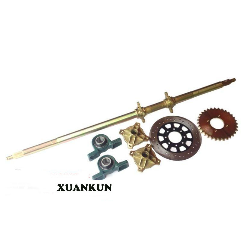 XUANKUN  150CC Karting Rear Axle Four Wheeled Car Motorcycle Karting Rear Axle Flange Seat Rear Axle xuankun atv karting three wheeled motorcycle modified shaft drive differential rear axle suspension